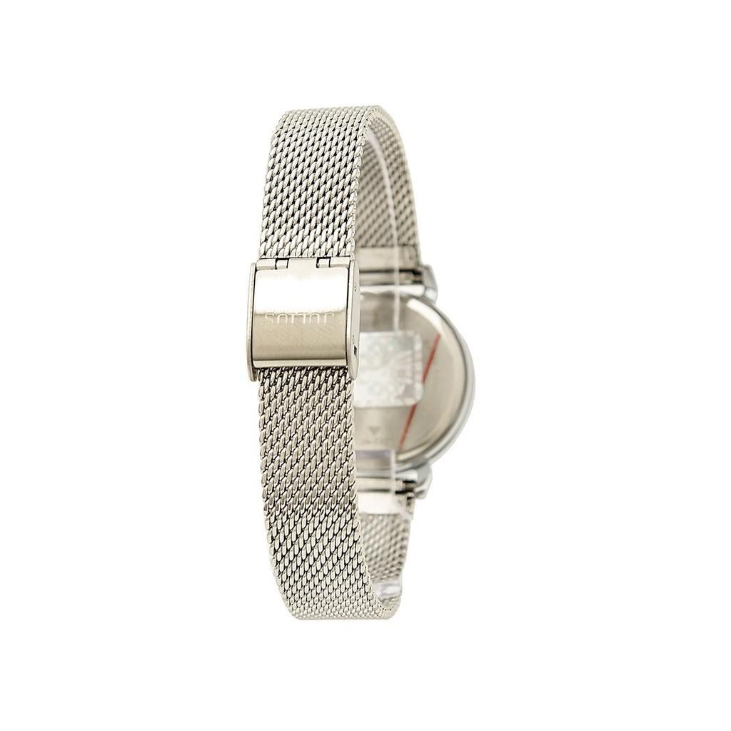 Combo đồng hồ nữ màu bạc Ja-732 và lắc tay Julius