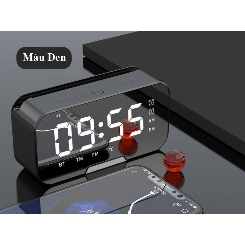 Đồng Hồ Loa HYJ-G10 Bluetooth Đa năng Mặt Gương Phát nhạc - Đài FM - Báo Thức