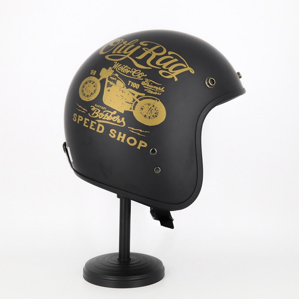 Mũ Bảo Hiểm 3/4 Đầu Tem Xe Siêu Chất - Mũ Bảo Hiểm Chuyên Phượt Cao Cấp