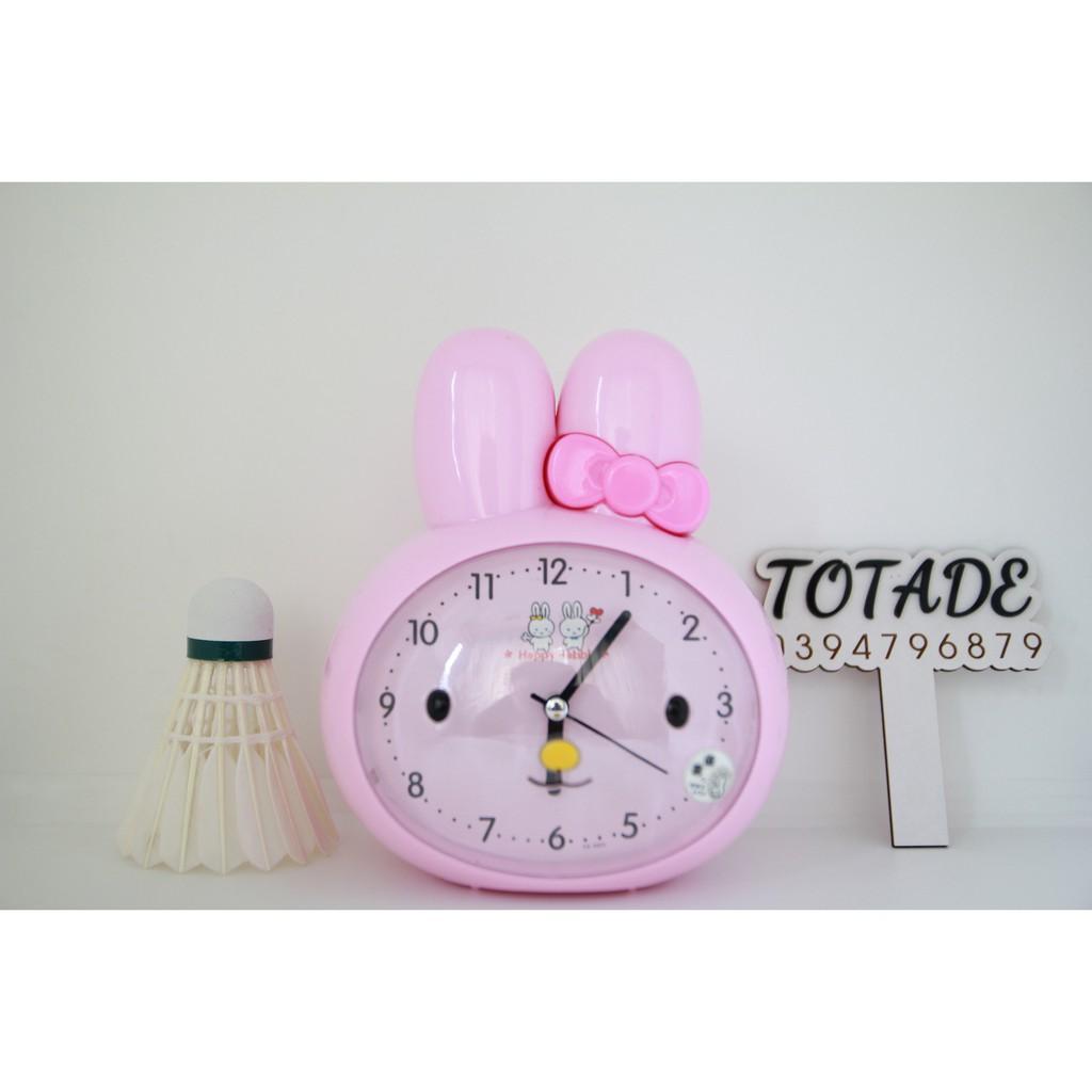 Đồng hồ để bàn hình thỏ - Size to - Có 2 màu