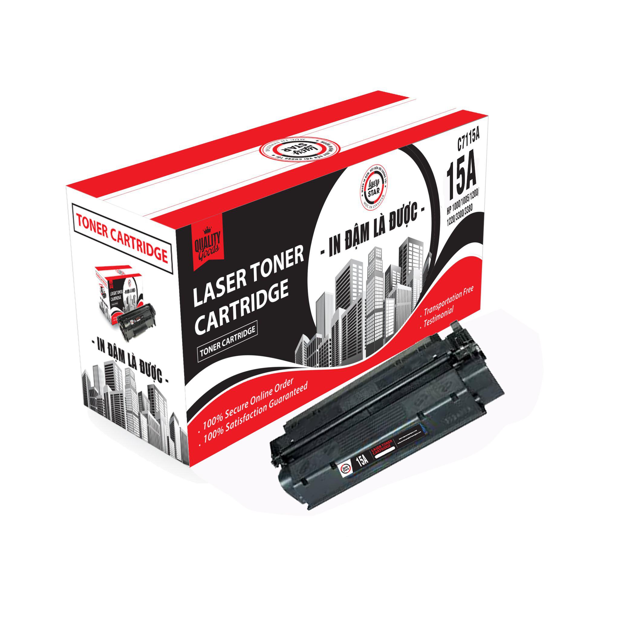 Mực in Lyvystar Laser đen trắng 15A (C7115A) dùng cho máy HP 3380 MFP - Hàng chính hãng