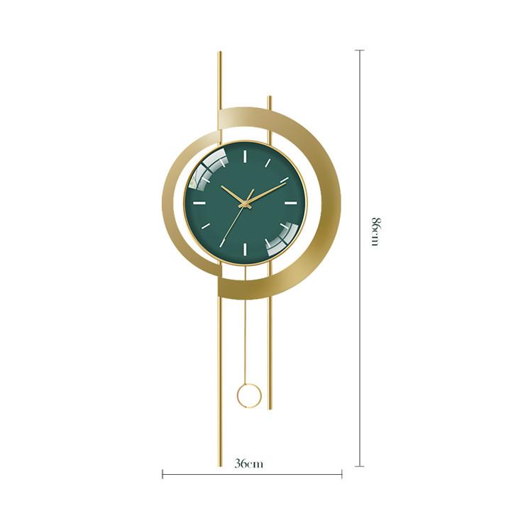 Đồng hồ phù điêu trang trí (kt 86x36cm)