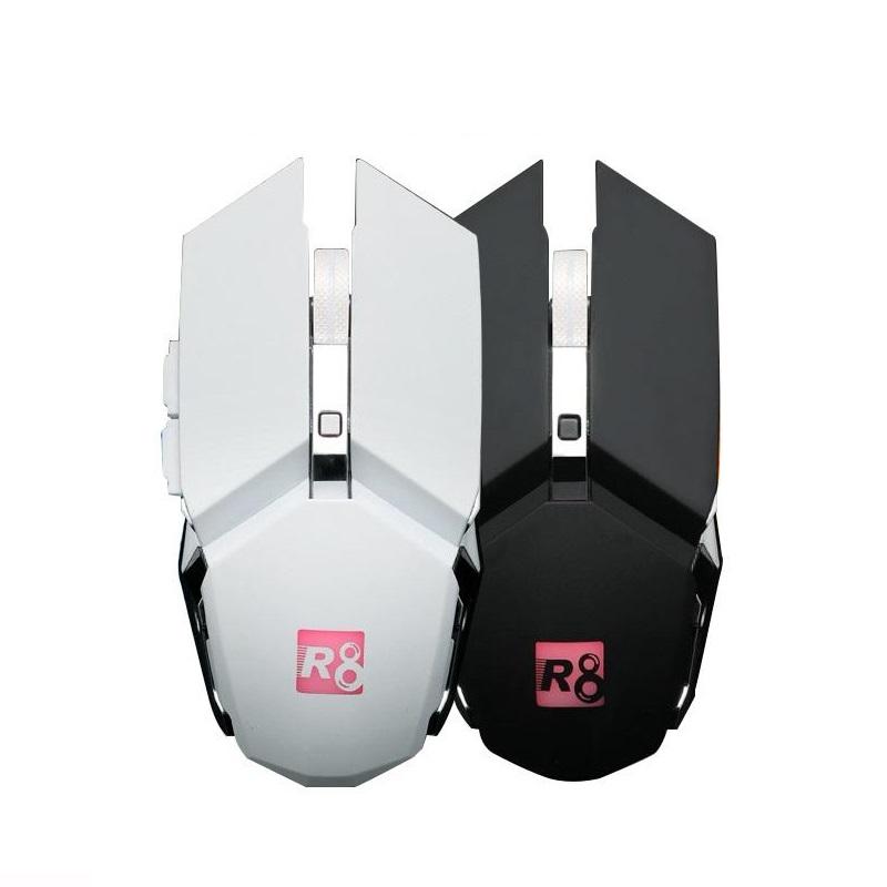 Chuột chuyên game không dây R8 1710B DPI 3200 Led đa màu tự chuyển - màu ngẫu nhiên (hàng chính hãng)