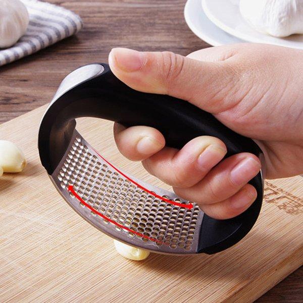 Dụng cụ ép tỏi nghiền tỏi bằng thép không gỉ có tay cầm tiện lợi