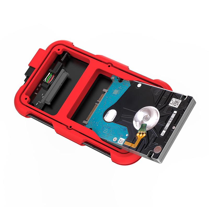 Hộp Đựng Ổ Cứng Di Động HDD Box ORICO 2769U3( Màu đỏ) USB3.0/2.5 Nhựa ABS+Silica gel - Hàng Chính Hãng