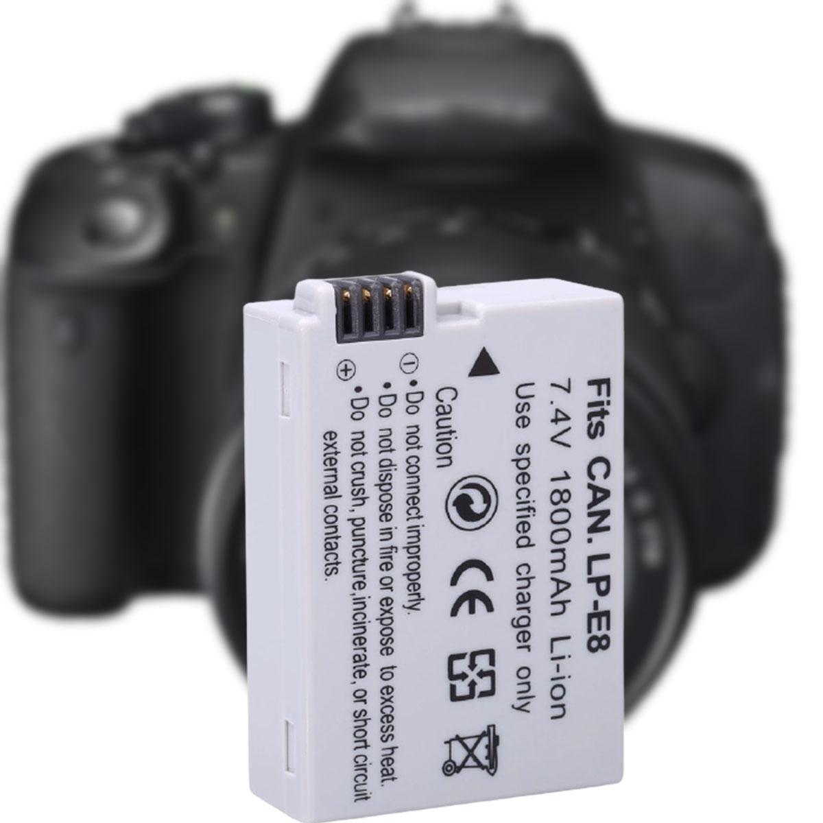Pin Dành Cho Máy Ảnh Canon LP-E8 1800mAh