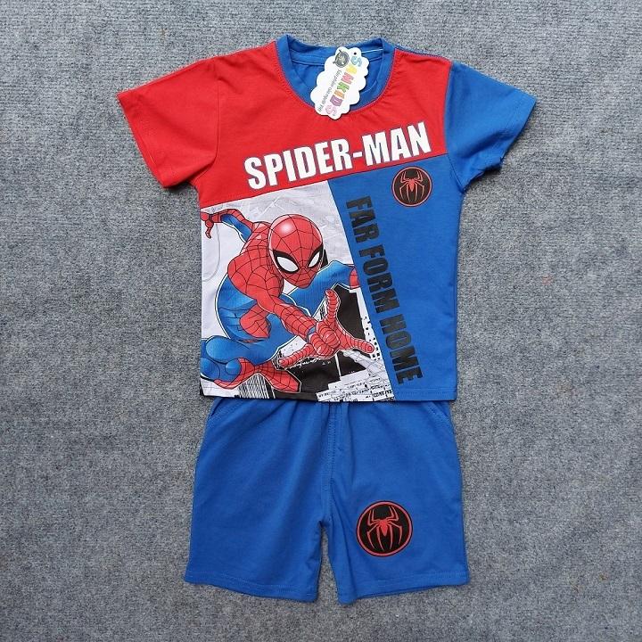 Bộ quần áo siêu nhân người nhện tay ngắn cho bé trai TN10