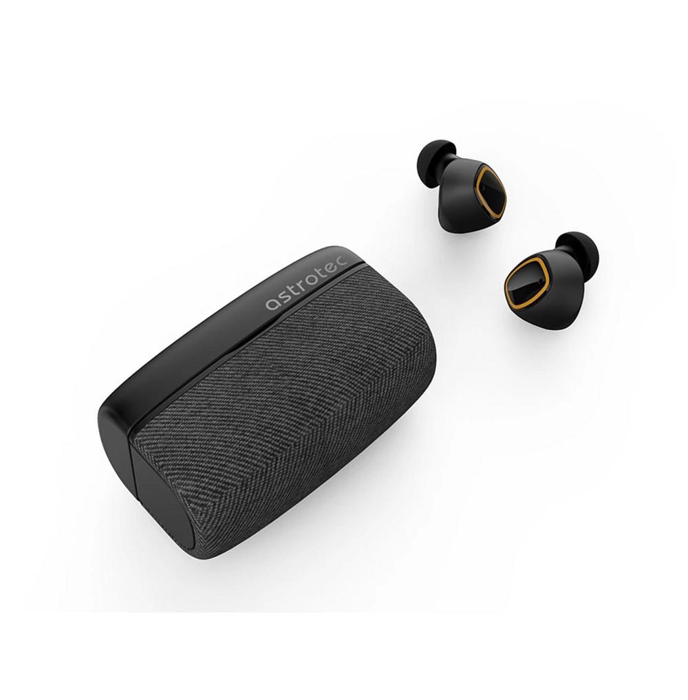 Tai nghe True Wireless Astrotec S80 Plus - Bluetooth 5.0, Loa 6mm Bio-Diaphragm Dynamic, Pin 25h có sạc nhanh, Phím cảm ứng - Hàng Chính Hãng