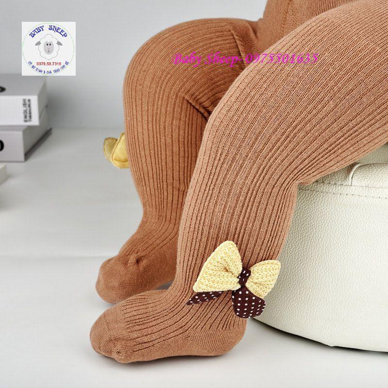 Quần tất đính nơ len các màu dành cho bé gái 0-4 tuổi HÀNG CAO CẤP