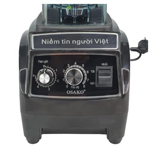 Máy xay sinh tố công nghiệp công suất lớn Osako dao 6 lưỡi công suất 1800W, màu ngẫu nhiên-hàng chính hãng
