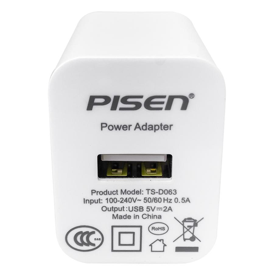 Adapter Sạc Pisen 2A -TS-D063 – Hàng Chính Hãng
