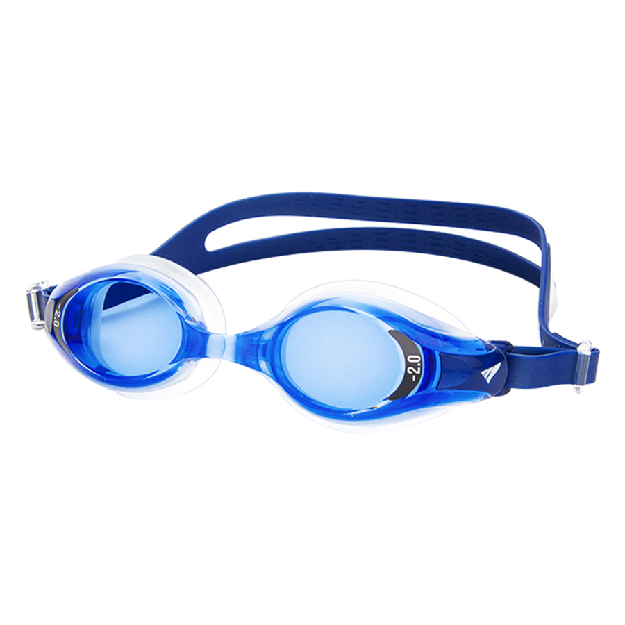 Bộ Kính Bơi Cận View V510-BL (Xanh Dương Đậm) Và Nón Bơi View V31-BL (Xanh Dương Đậm)