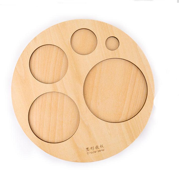 Bảng  núm hình tròn giáo cụ Montessori