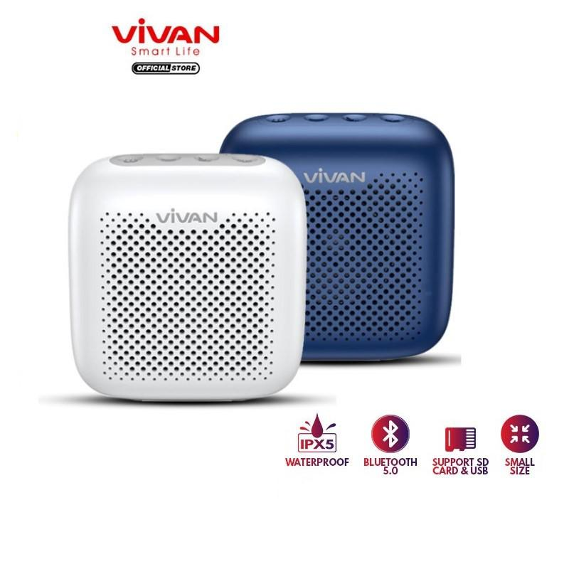 Loa Bluetooth TWS 5.0 VIVAN Chống Nước IPX5, Công Suất 5W, Dung Lương Pin 1800mAh Nghe Nhạc Cực Đã - Hàng Chính Hãng