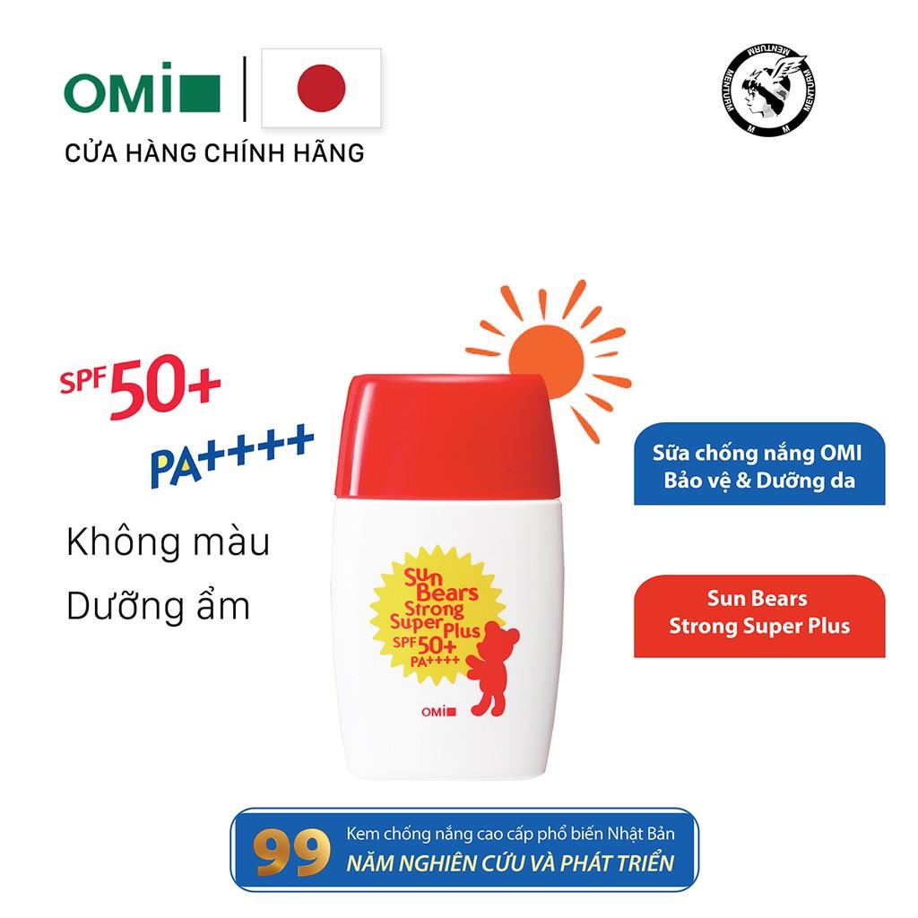 Sữa Chống Nắng OMI Bảo Vệ Và Dưỡng Da - Omi Sun Bears Strong Super Plus SPF50+/PA++++ (30g)