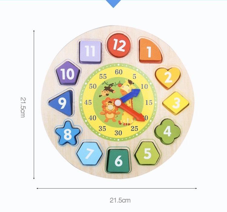Đồ chơi trí tuệ- đồng hồ gỗ thông minh an toàn cho bé MK00120