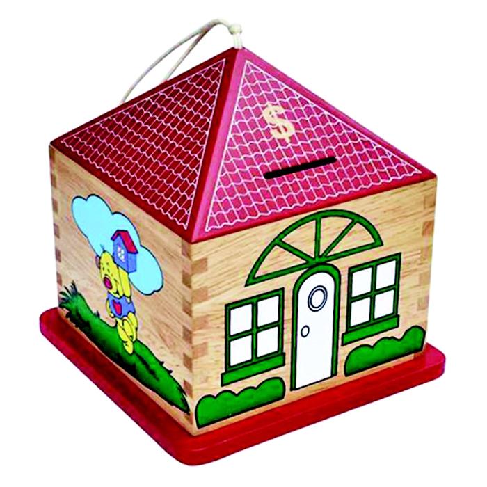 Đồ Chơi Gỗ Colligo - Nhà tiết kiệm hình vuông (đỏ) 71122
