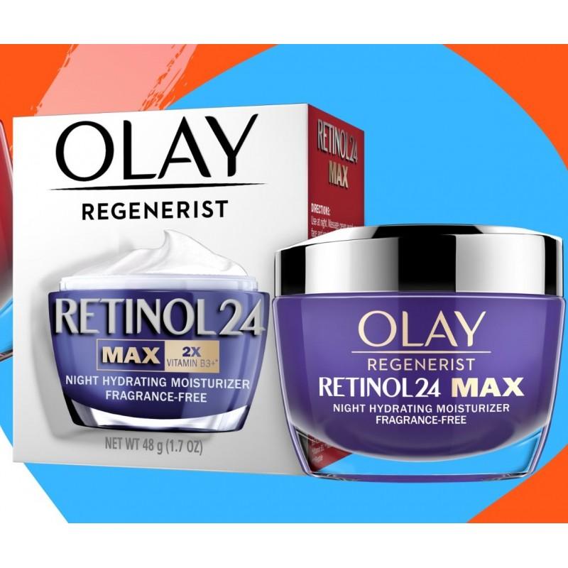 Kem dưỡng da ban đêm chống lão hóa Olay Regenerist Retinol 24 MAX 48g