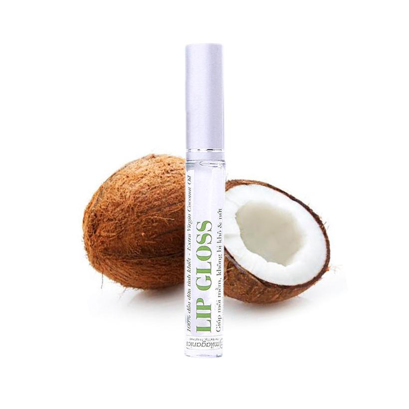 Lipgloss dưỡng môi Dầu dừa MILAGANICS 5ml