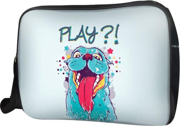 Túi Đeo Chéo Hộp Unisex Chó Xanh Play - TCAA222 34 x 9 x 25 cm