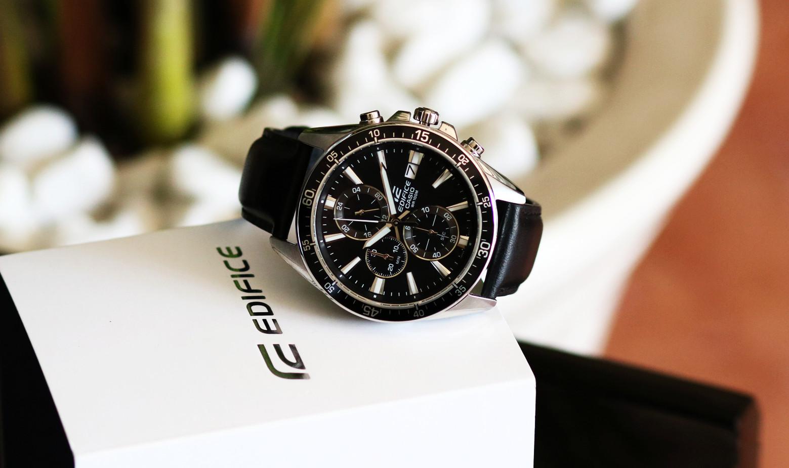 Đồng hồ nam dây da Casio EDIFICE EFR-546L-1AVUDF