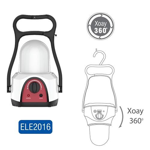 Đèn sạc tích điện có thể xoay 360 độ chính hãng Roman - Đèn để bàn hoặc có móc treo thuận tiện sử dụng với thời gian sáng liên tục 20 giờ ELE2016