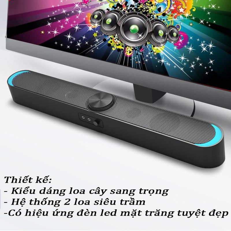 Combo Loa Vi Tính Thông Minh V-198, Hỗ Trợ Bluetooth, Karaoke, Hiệu Ứng Đèn Led Mặt Trăng Cao Câp + Tặng Tai Nghe Chụp Tai Chuyên Game Cao Cấp