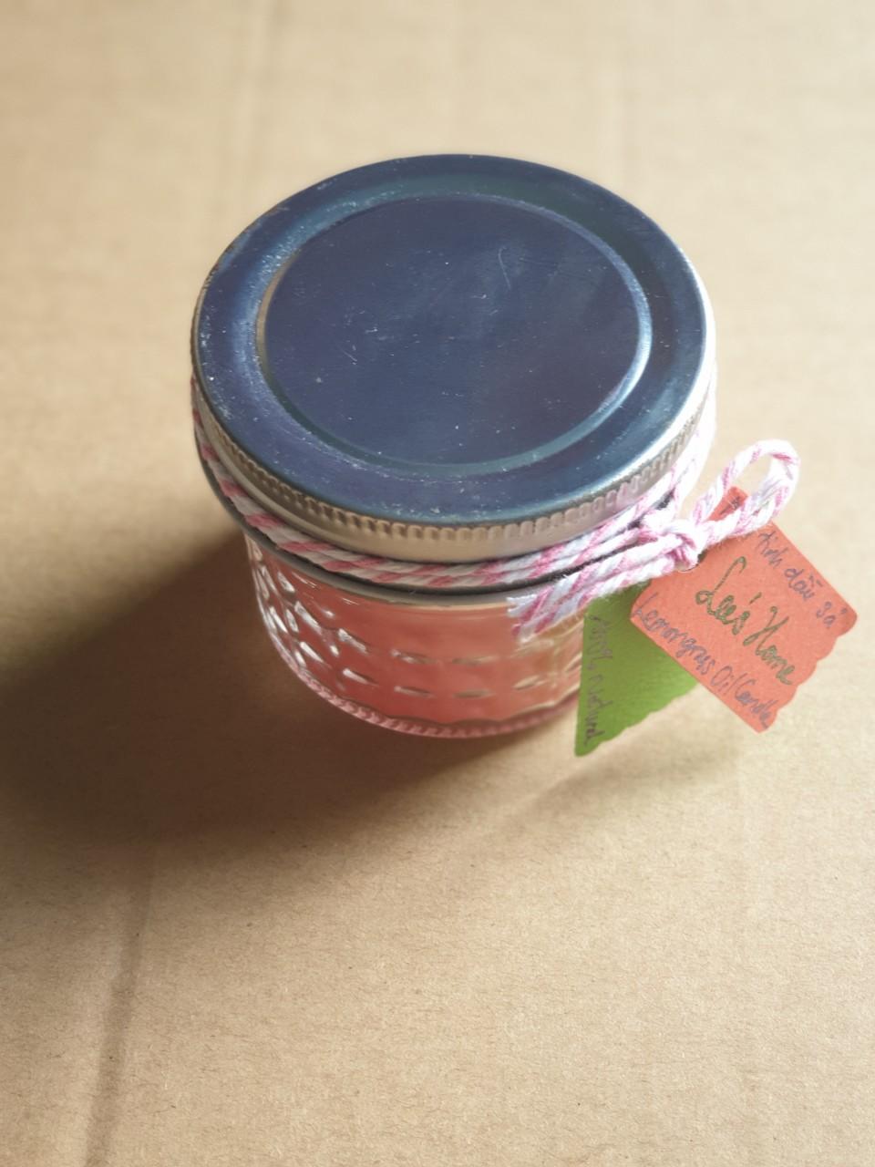 Nến thơm tinh dầu sả Lee's Home/ Lemongrass oil Candle