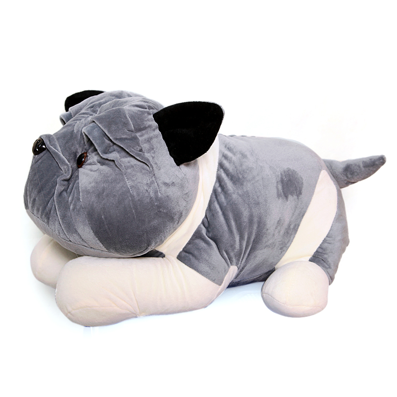 Gấu bông chú chó mặt xệ Pitbull đáng yêu size 50cm