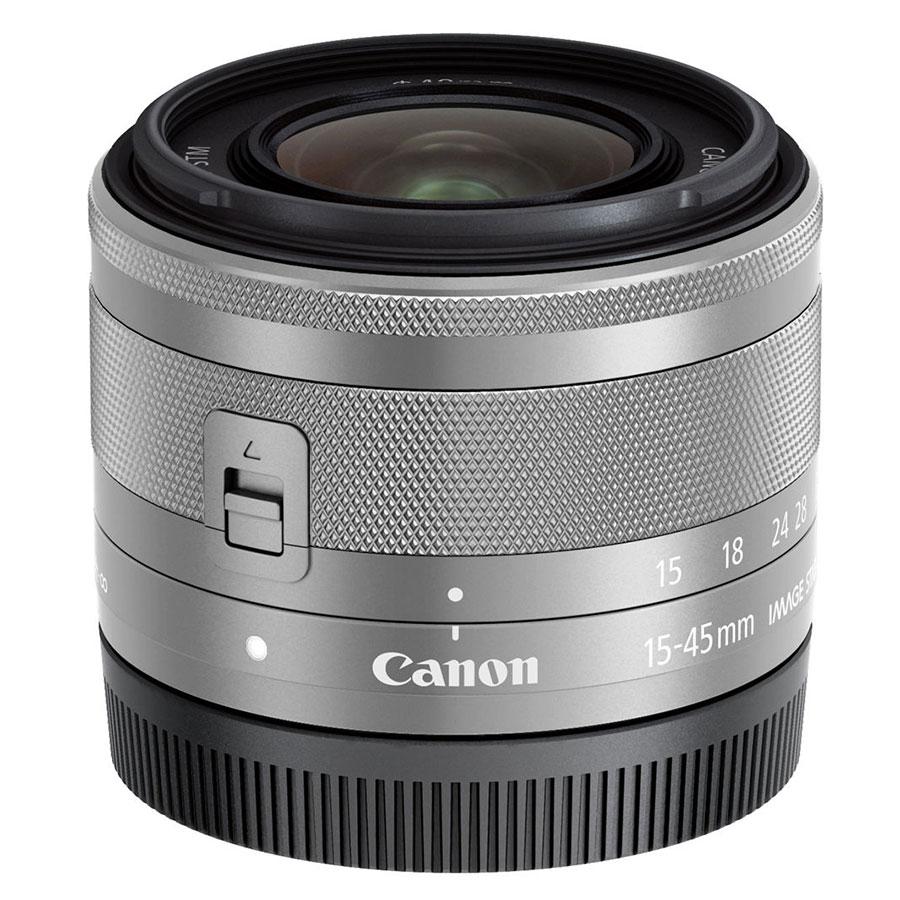 Lens Canon EF-M 15-45mm f/3.5-6.3 IS STM - Silver - Hàng Chính Hãng