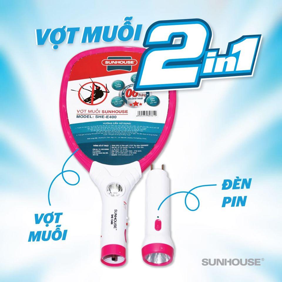 Vợt Muỗi Sunhouse SHE-E400