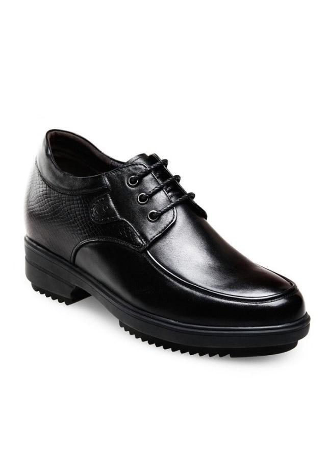 Giày nam tăng chiều cao 10cm GOG5625 đen