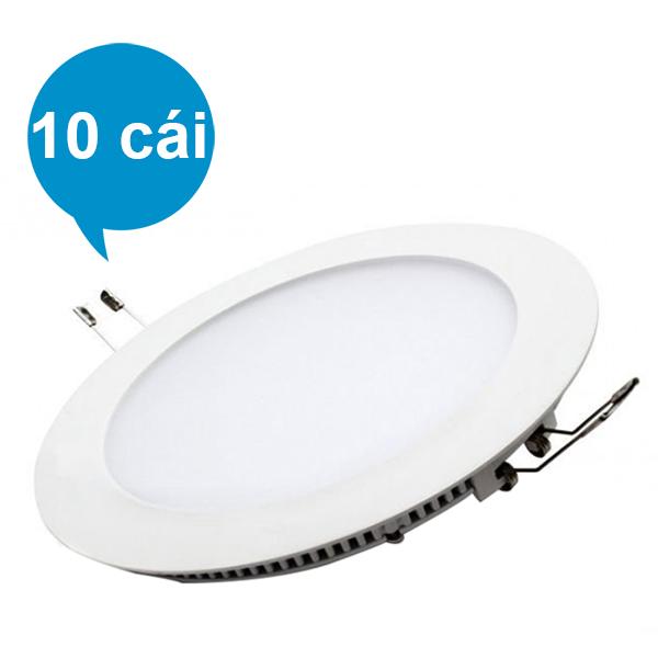Bộ 10 Đèn LED Âm Trần Suntek 6W (Ánh Sáng Vàng)