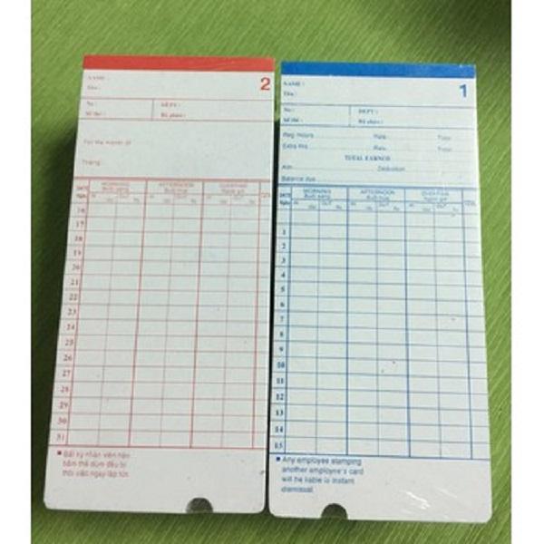 Thẻ chấm công dùng cho máy chấm công giấy