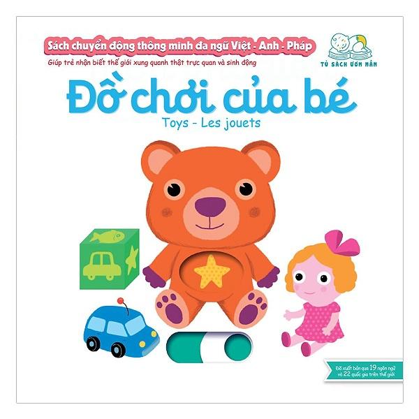 Cuốn sách giúp bé làm quen với ngoại ngữ:  Sách Chuyển Động - Song Ngữ A-V: Baby Supplies - Đồ Dùng Của Bé