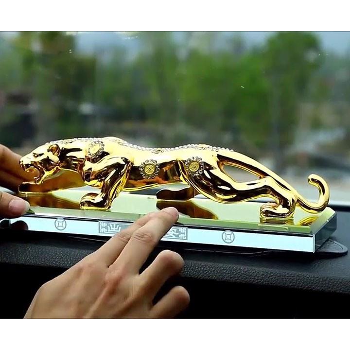 Nước Hoa Trang Trí Xe Hơi Hình Con Báo 20cm-Màu Vàng