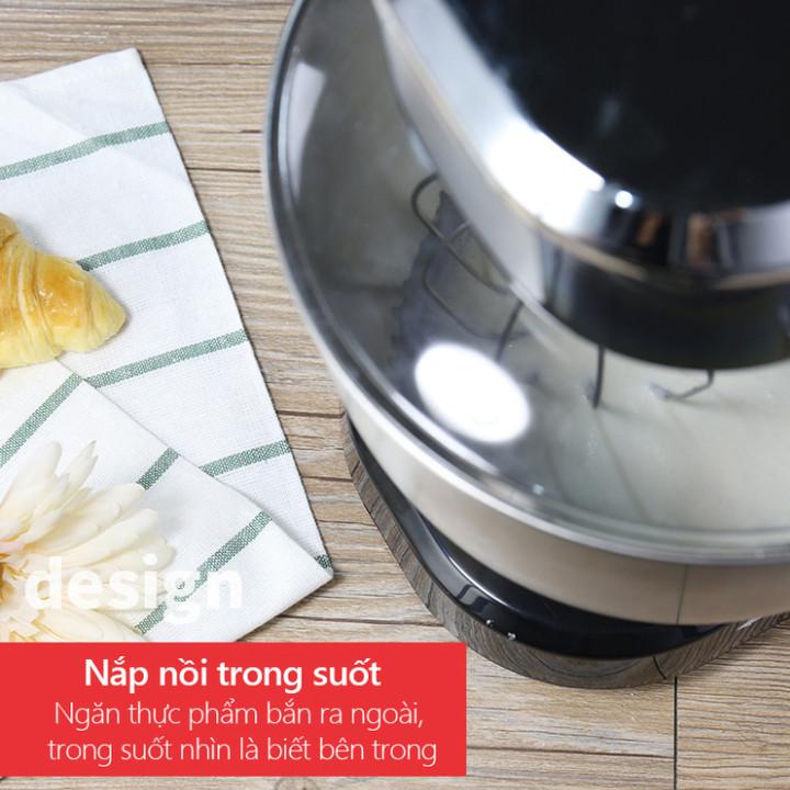 Máy trộn bột, đánh trứng 3 tốc độ đánh cao cấp thương hiệu DSP - 2 màu: Đen và Trắng - Công suất: 1000W - Dung tích: 5.0 lít - Hàng Nhập Khẩu