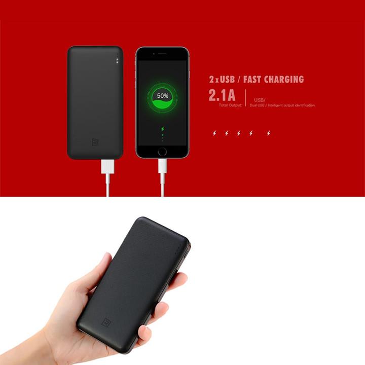 Pin dự phòng Remax 10000mAh RPP-119 R Jane Series 2 cổng USB - Hàng nhập khẩu
