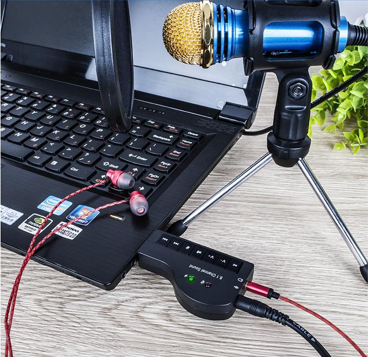 Usb sound 8.1 âm thanh sống động HIFI Magic Voice 8.1 CH AZONE