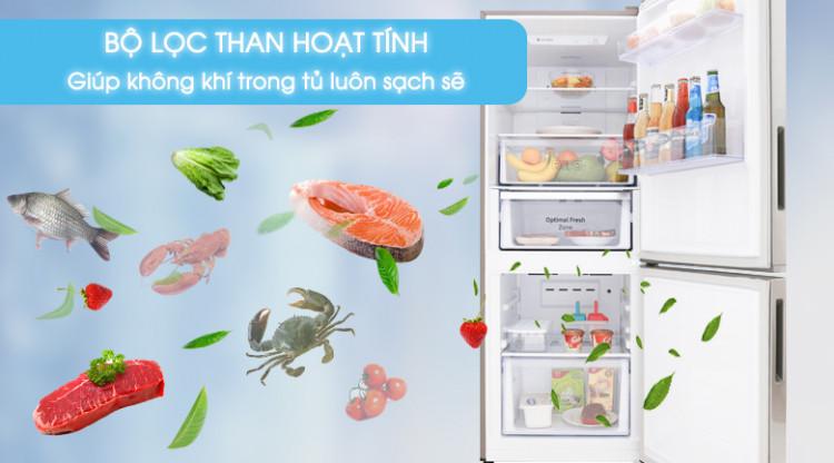 Bộ lọc than hoạt tính cho thực phẩm tươi ngon - Tủ lạnh Samsung Inverter 280 lít RB27N4010S8/SV