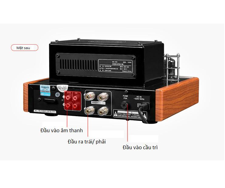 Bộ khuếch đại âm thanh  Amply MS-10D MKII tích hợp ADC có Bluetooth Phiên bản mới nhất 2019