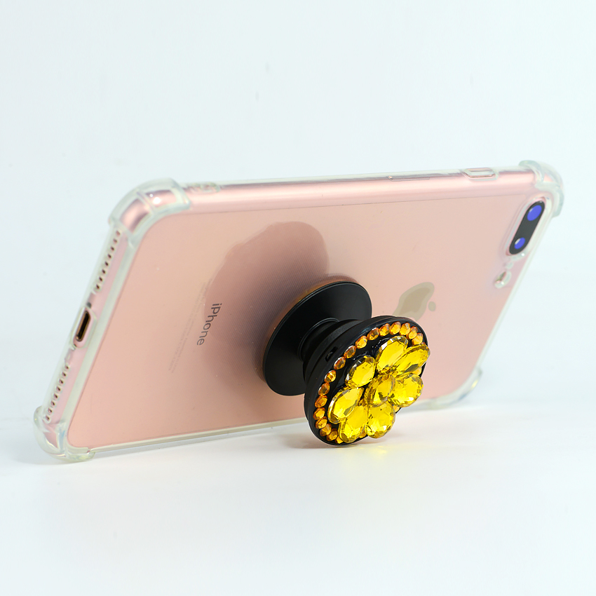 Gía đỡ điện thoại đa năng, tiện lợi, đính đá sang trọng - PopSockets - Đính đá Vàng  - Hàng Chính Hãng