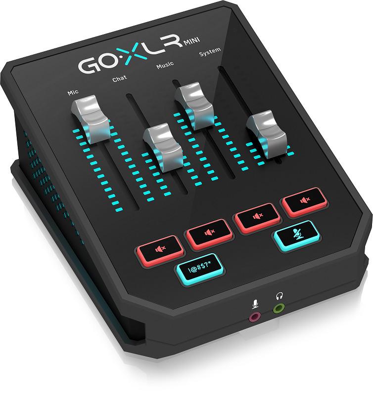 TC-Helicon GoXLR Mini USB Streaming Mixer with USB/Audio Interface-Hàng Chính Hãng