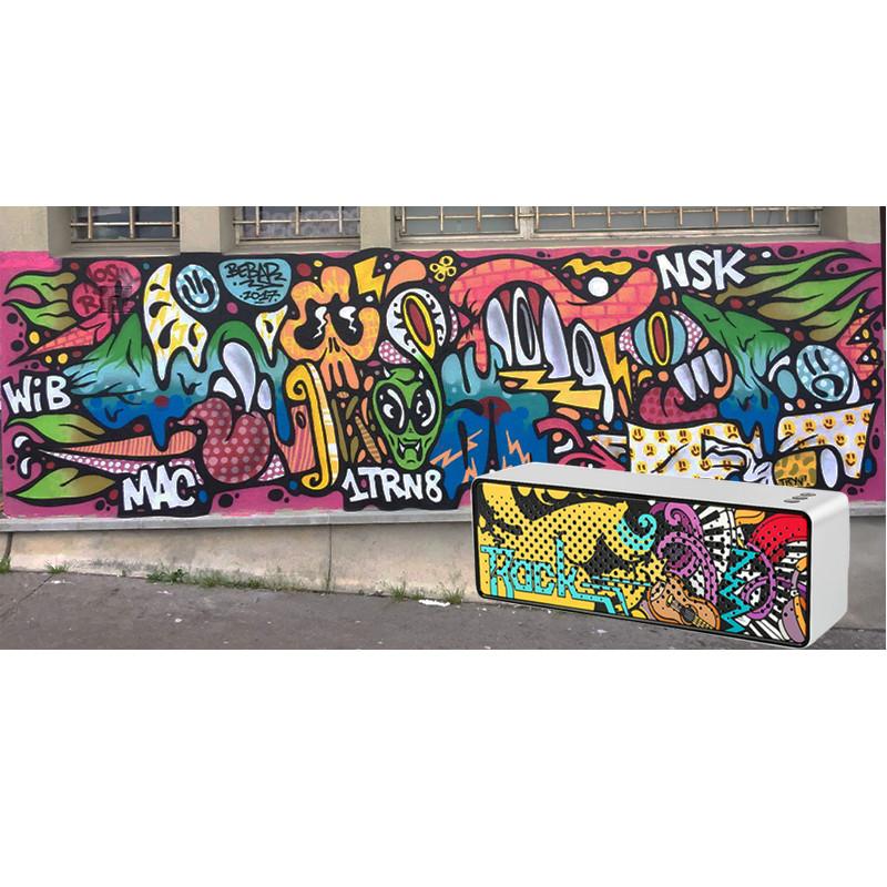 Loa Nghe Nhạc Bluetooth Graffiti PKCB - Hàng Chính Hãng