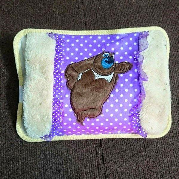 Túi Sưởi Ấm Lưng Họa Tiết Gấu  Đa Năng (1 Sản Phẩm)- Dùng Điện  - Màu Nâu - Mẫu TSC0183