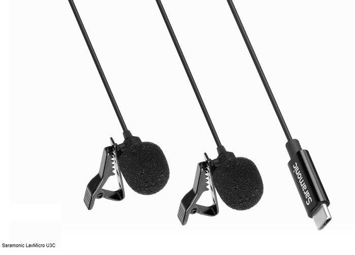 Micro thu âm cài áo Saramonic LavMicro U3C Type-C hàng chính hãng.