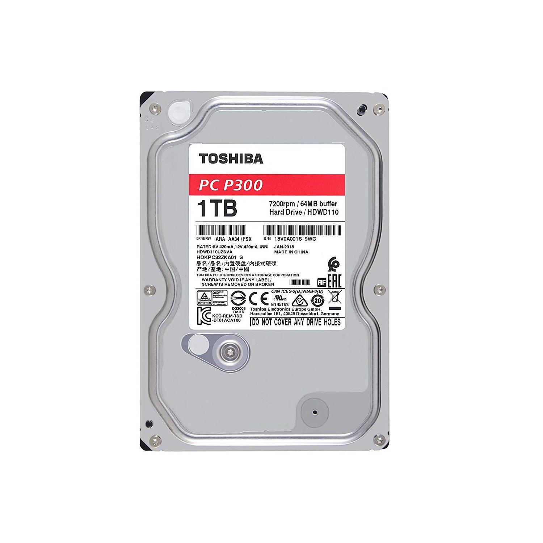 Ổ Cứng HDD Toshiba 1TB P300 series (64MB) 7200rpm SATA3 HDWD110UZSVA - Hàng Chính Hãng