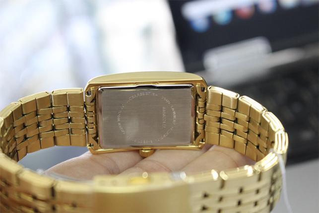 Đồng Hồ Citizen Nam Dây Kim Loại Pin-Quartz BH1673-50P - Mặt Vàng (28x26mm)