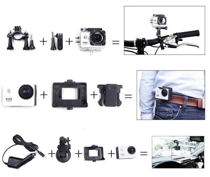 Camera Hành Trình Sports 1080HD Với Nhiều Chế Độ Quay Phim, Chụp Hình