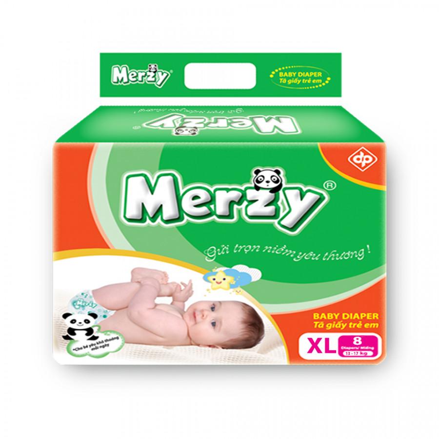 Tã Dán Merzy gói nhỏ XL8 (8 miếng)